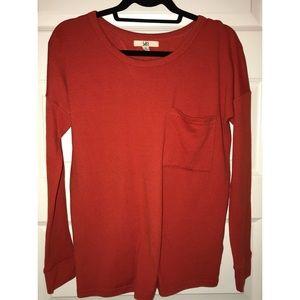 Brand New Burnt Orange Open Back Sweater